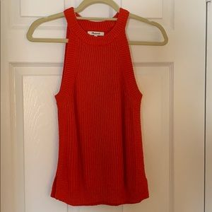 Madewell red sweater tank